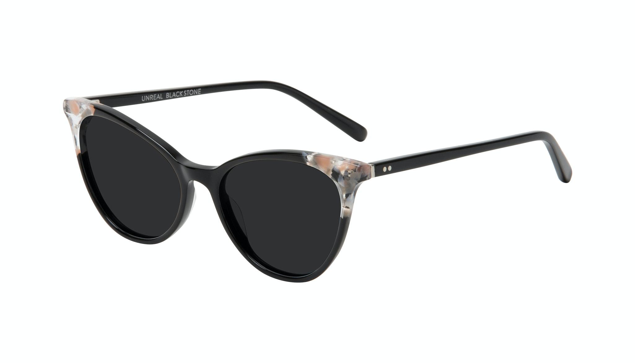 Affordable Fashion Glasses Cat Eye Sunglasses Women Unreal Black Stone Tilt
