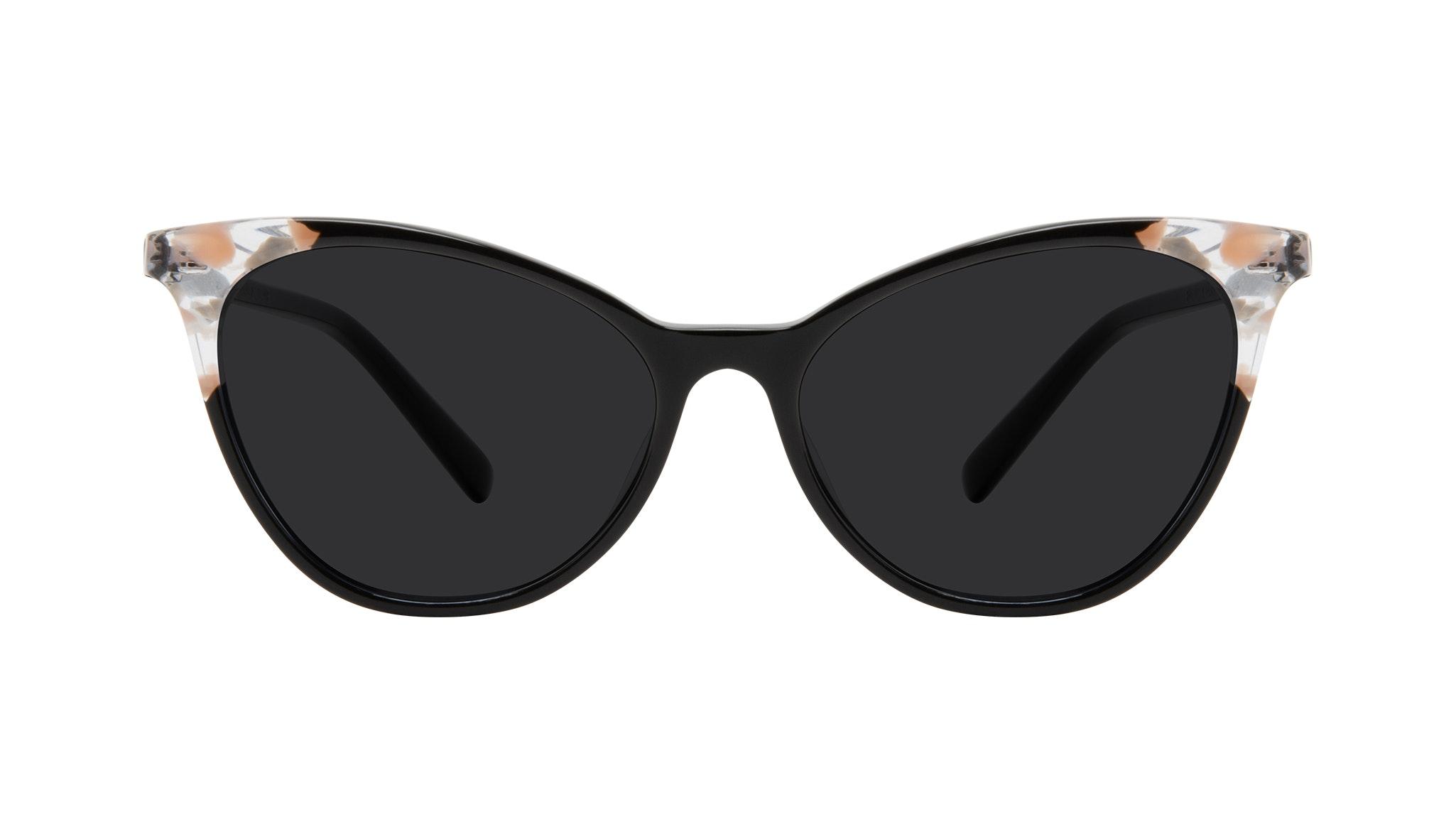 Lunettes tendance Oeil de chat Lunettes de soleil Femmes Unreal Black Stone Face