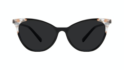 Affordable Fashion Glasses Cat Eye Sunglasses Women Unreal Black Stone Front