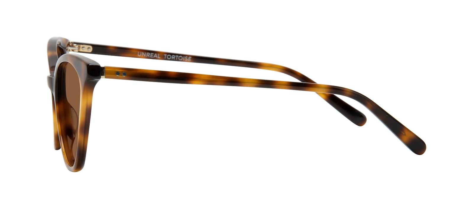 Lunettes tendance Oeil de chat Lunettes de soleil Femmes Unreal Tortoise Profil
