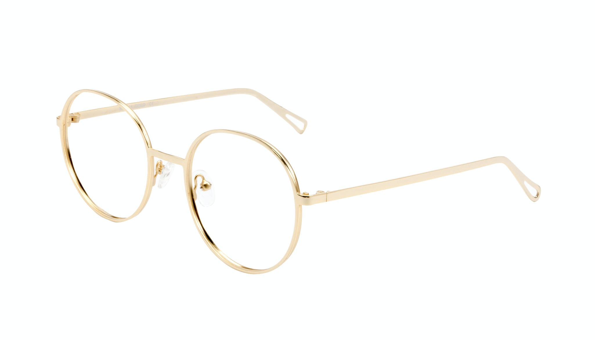 Affordable Fashion Glasses Round Eyeglasses Men Women Varna Gold Tilt