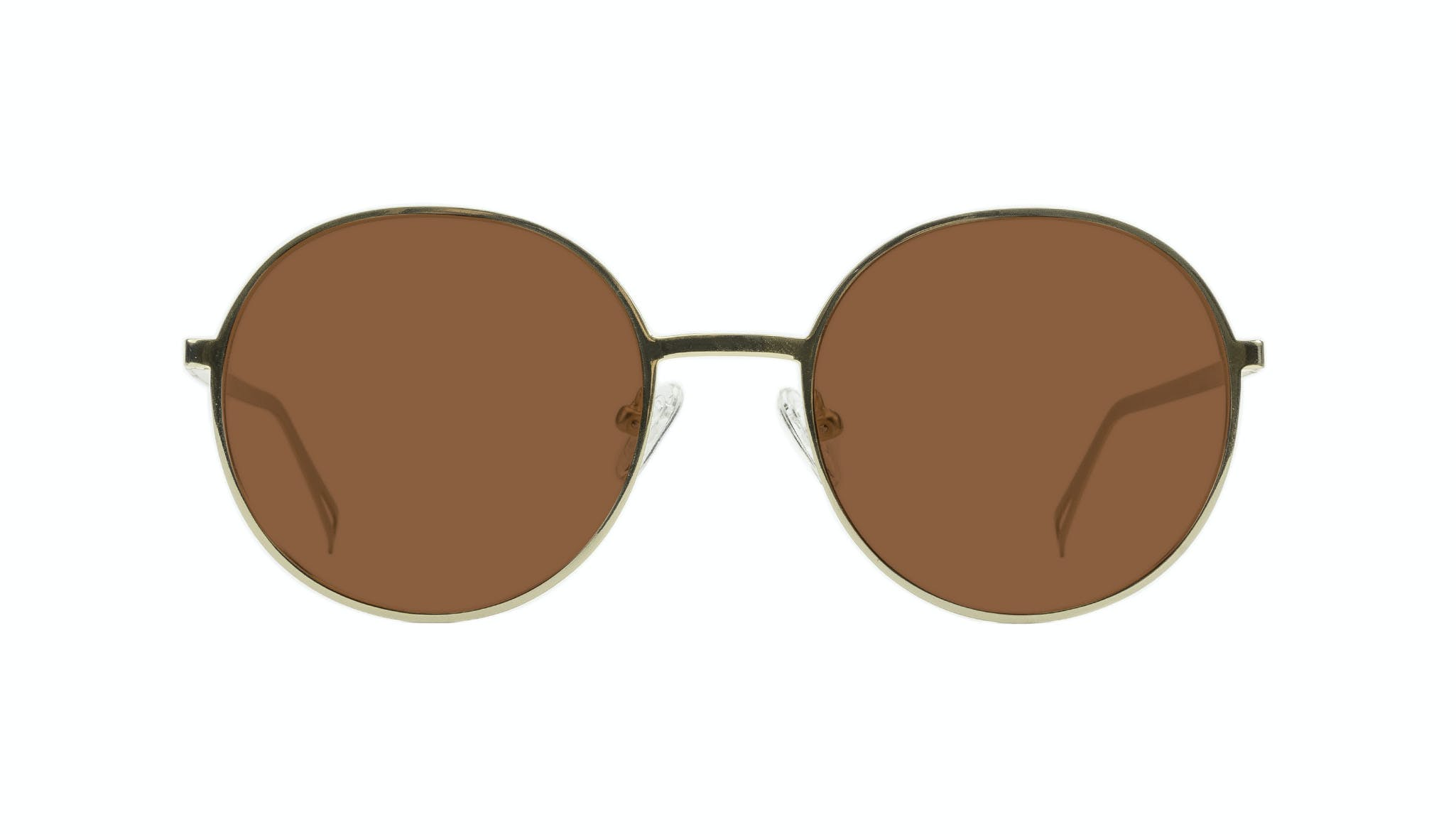 Affordable Fashion Glasses Round Sunglasses Men Women Varna Gold Front