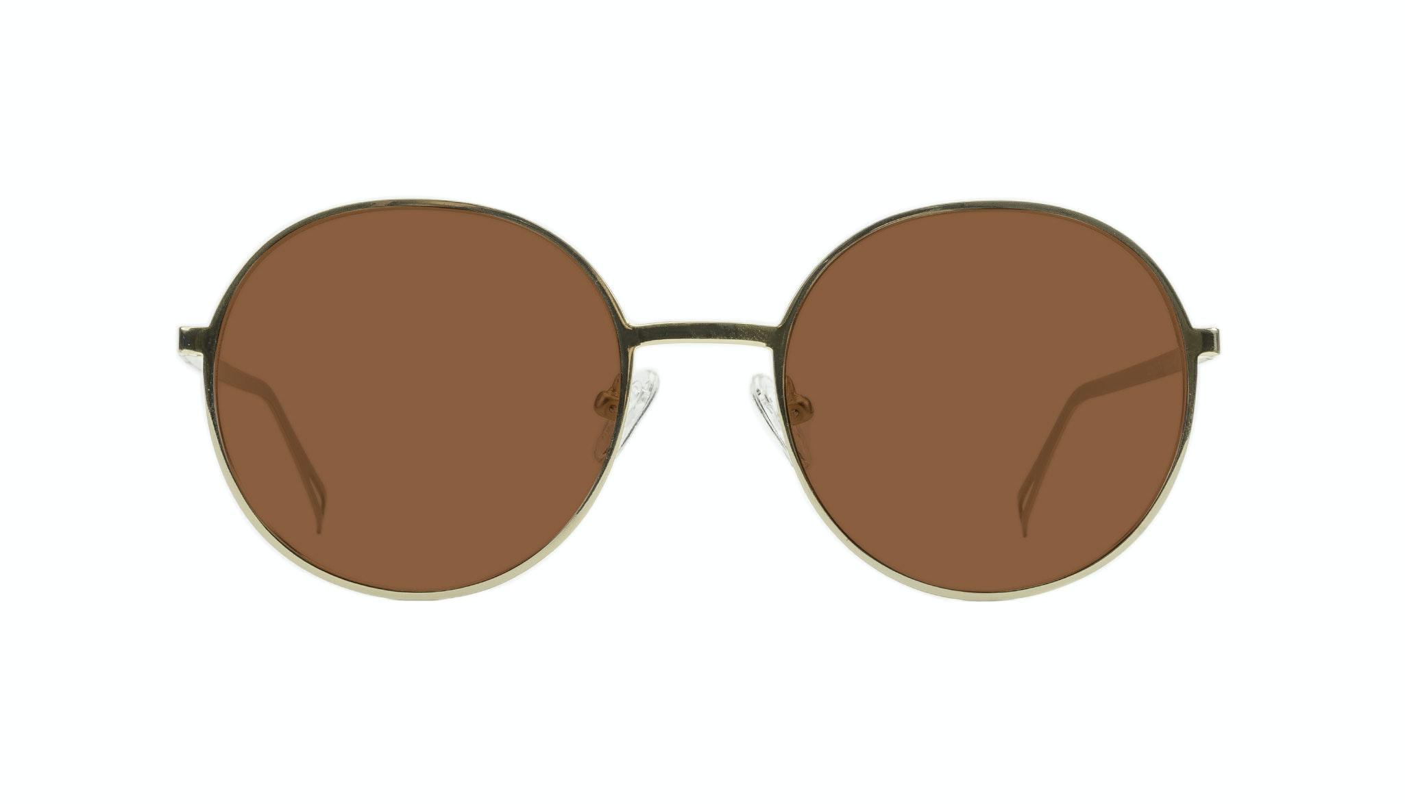 Affordable Fashion Glasses Round Sunglasses Men Women Varna Gold Front