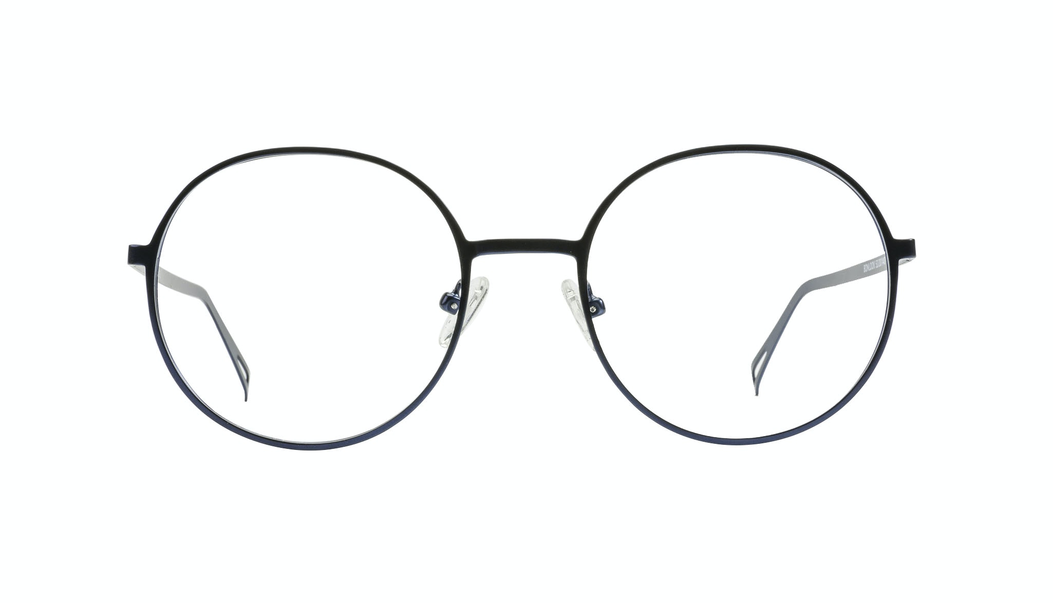 Affordable Fashion Glasses Round Eyeglasses Men Women Varna Navy Front