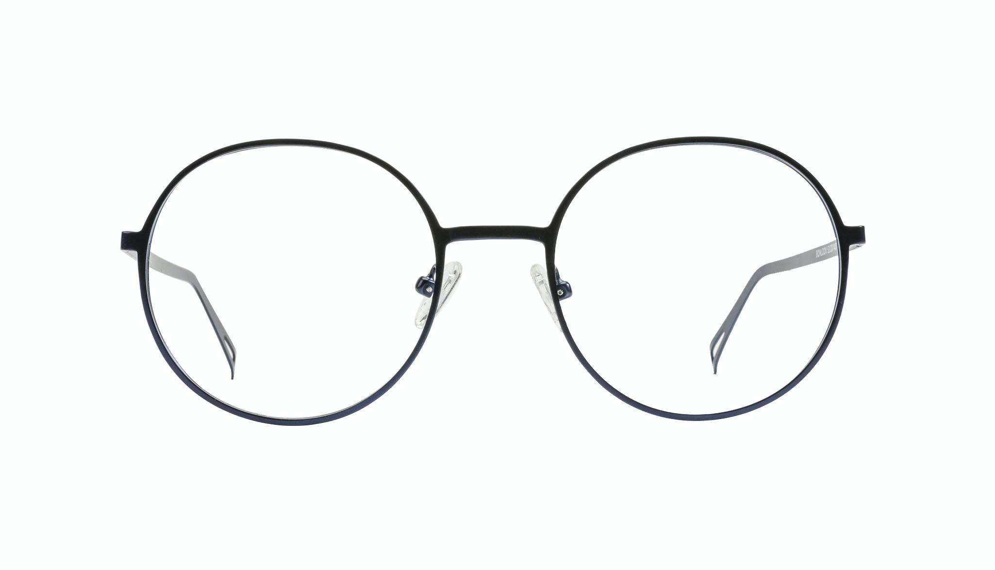 Affordable Fashion Glasses Round Eyeglasses Men Women Varna Navy Front