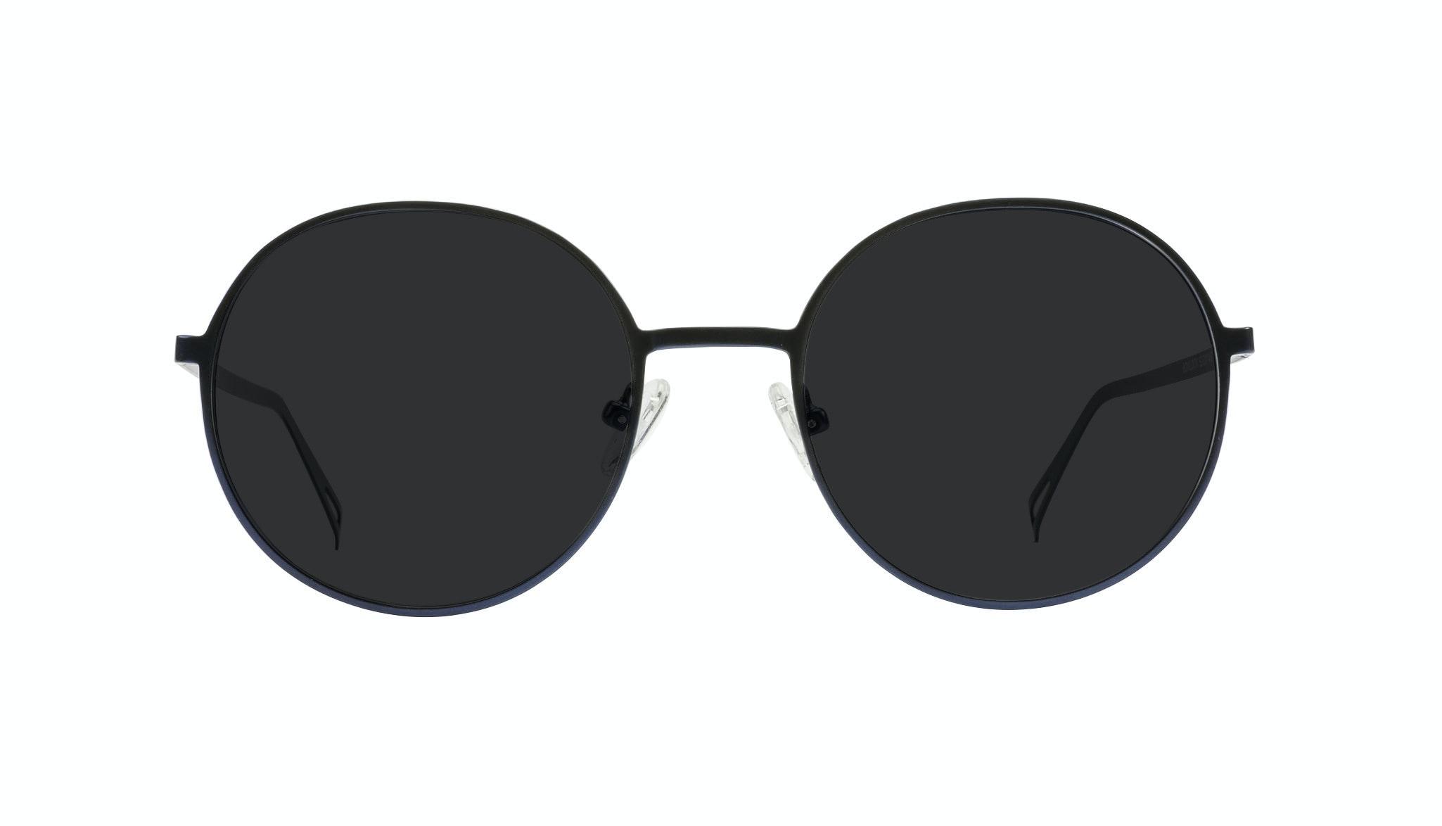 Affordable Fashion Glasses Round Sunglasses Men Women Varna Navy Front