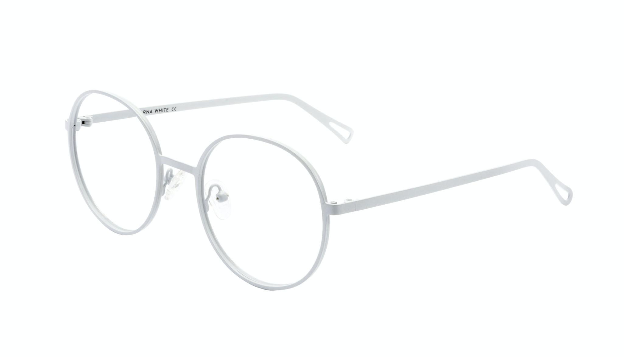 Affordable Fashion Glasses Round Eyeglasses Men Women Varna White Tilt