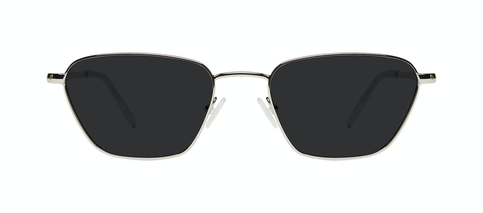 Affordable Fashion Glasses Square Sunglasses Women Venice Silver Front