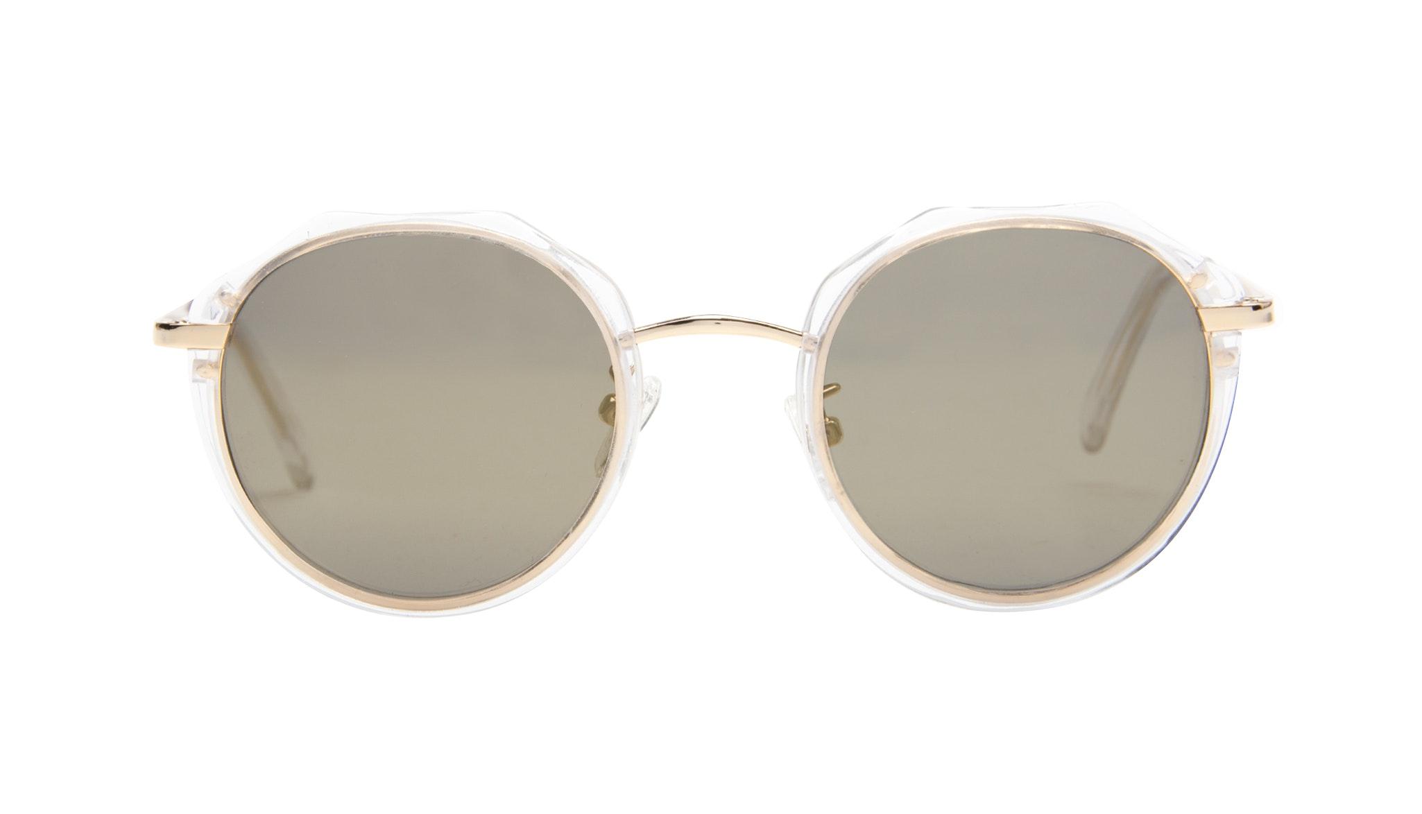 Affordable Fashion Glasses Round Sunglasses Women Vitality Gold Diamond