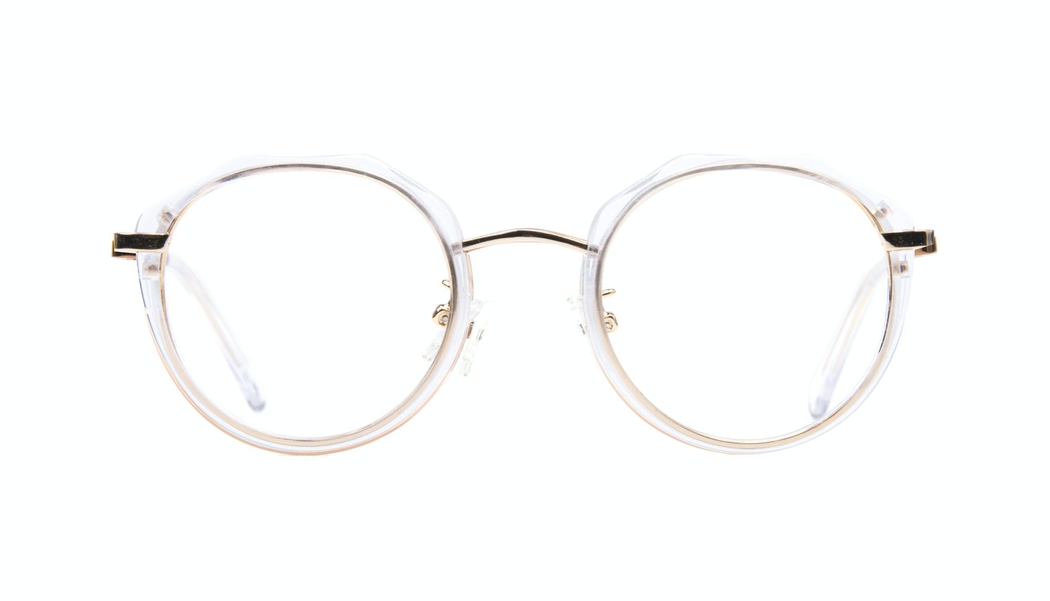 Affordable Fashion Glasses Round Eyeglasses Women Vitality Gold Diamond