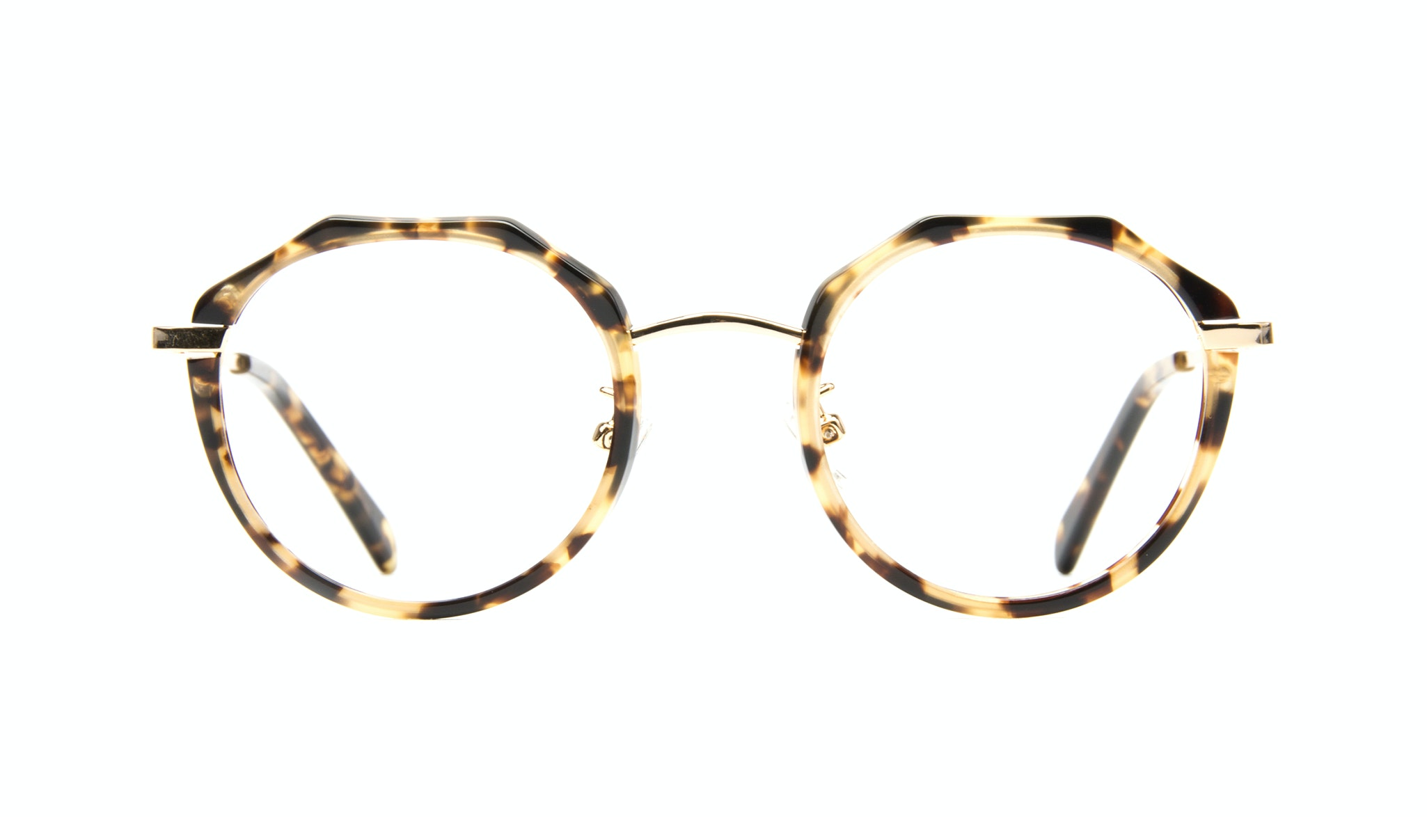 Affordable Fashion Glasses Round Eyeglasses Women Vitality Gold Tort