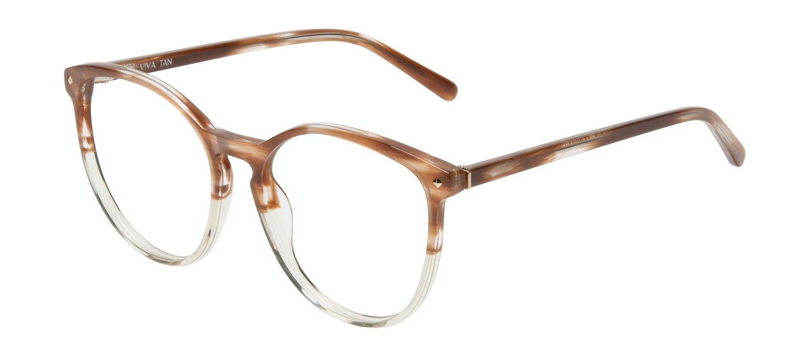 Affordable Fashion Glasses Round Eyeglasses Women Viva Tan Tilt
