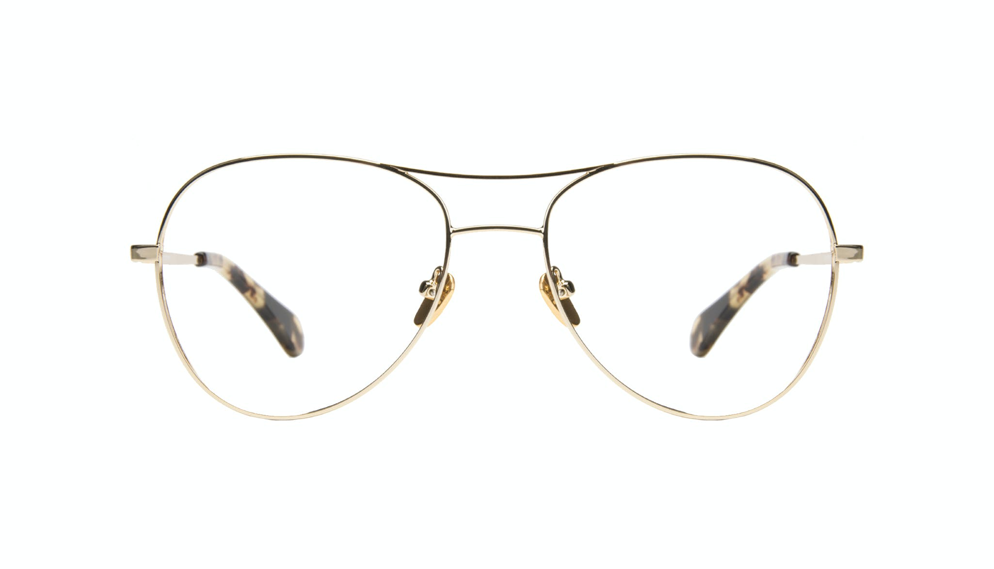 Affordable Fashion Glasses Aviator Eyeglasses Women Want Gold Front