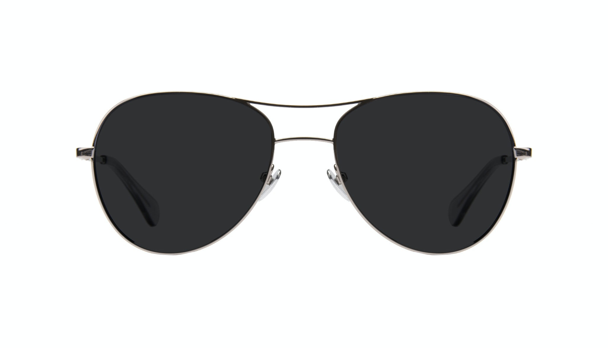 Affordable Fashion Glasses Aviator Sunglasses Women Want Silver Front