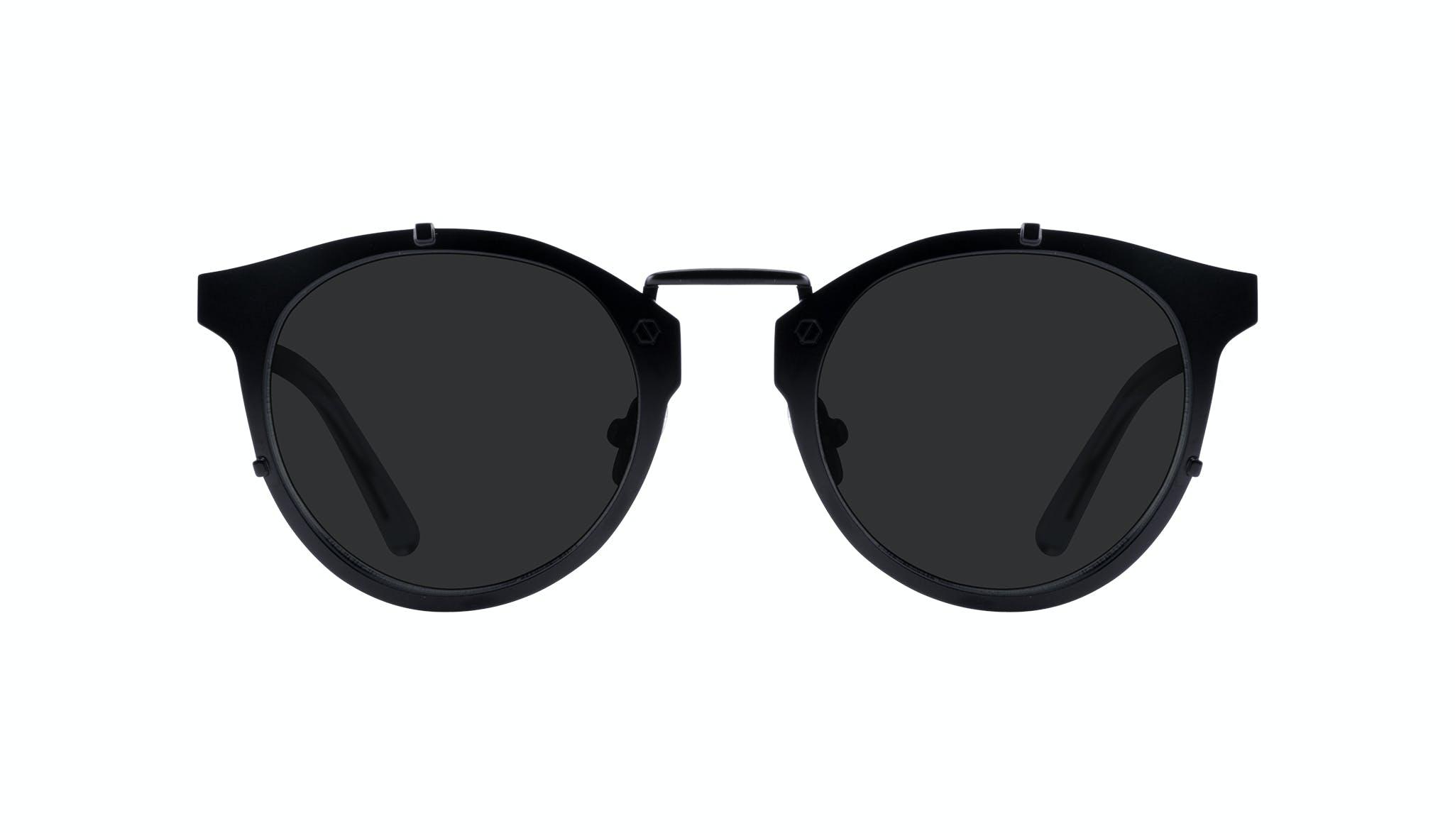 Lunettes tendance Ronde Lunettes de soleil Hommes Way Black