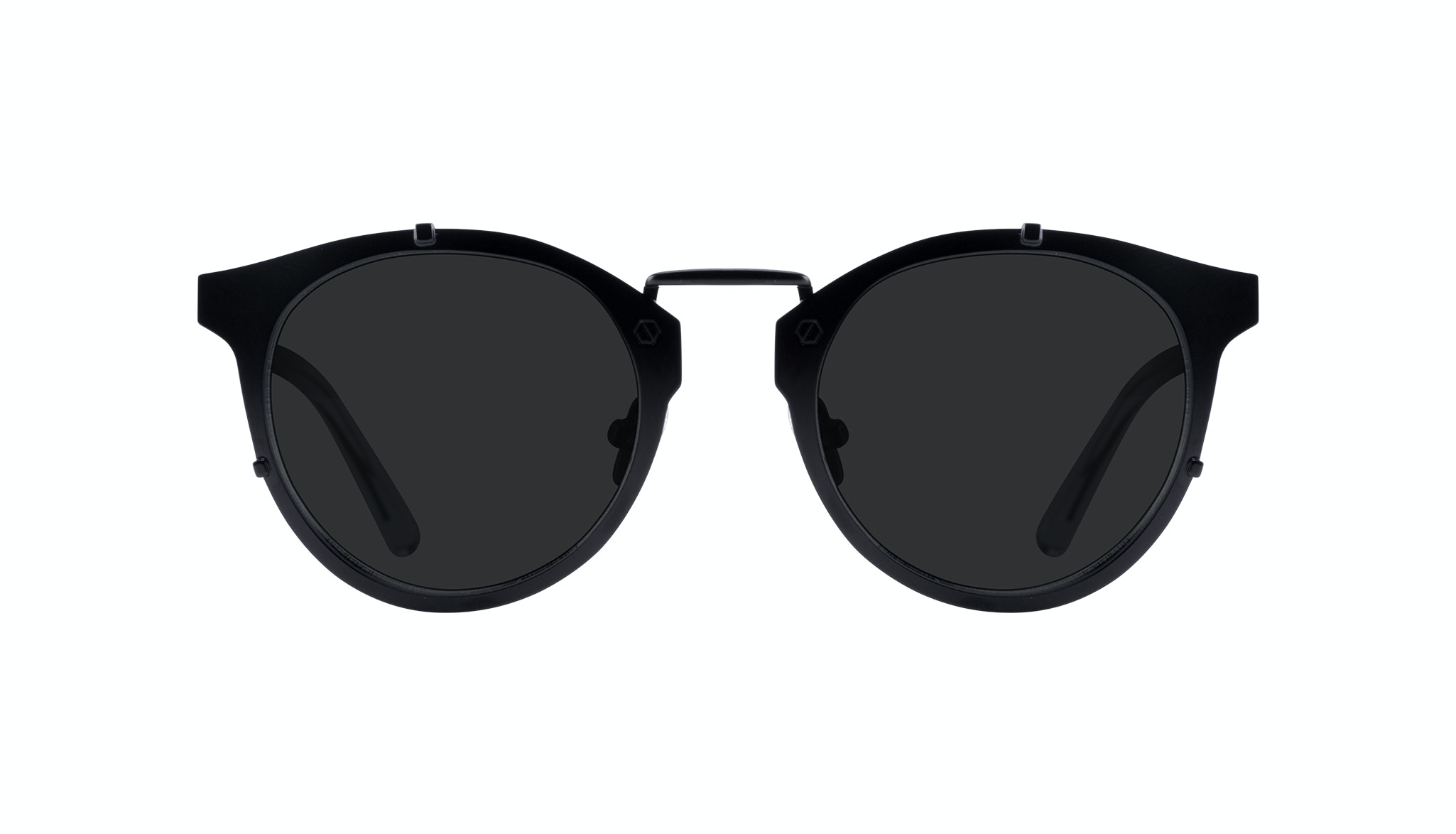Affordable Fashion Glasses Round Sunglasses Men Way Black Front
