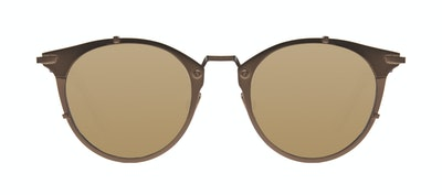 Affordable Fashion Glasses Round Sunglasses Men Way Brown Front
