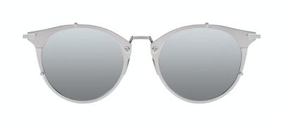 Affordable Fashion Glasses Round Sunglasses Men Way Silver Front