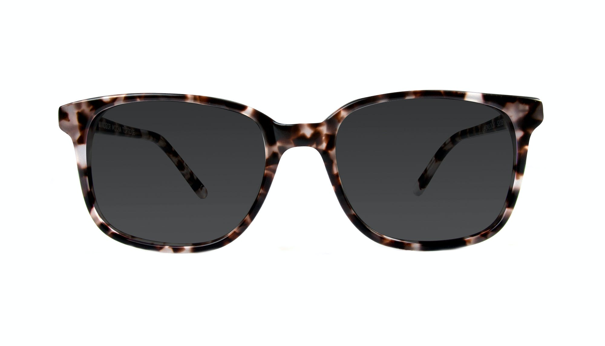 Affordable Fashion Glasses Rectangle Square Sunglasses Women Windsor Mocha Tortoise Front