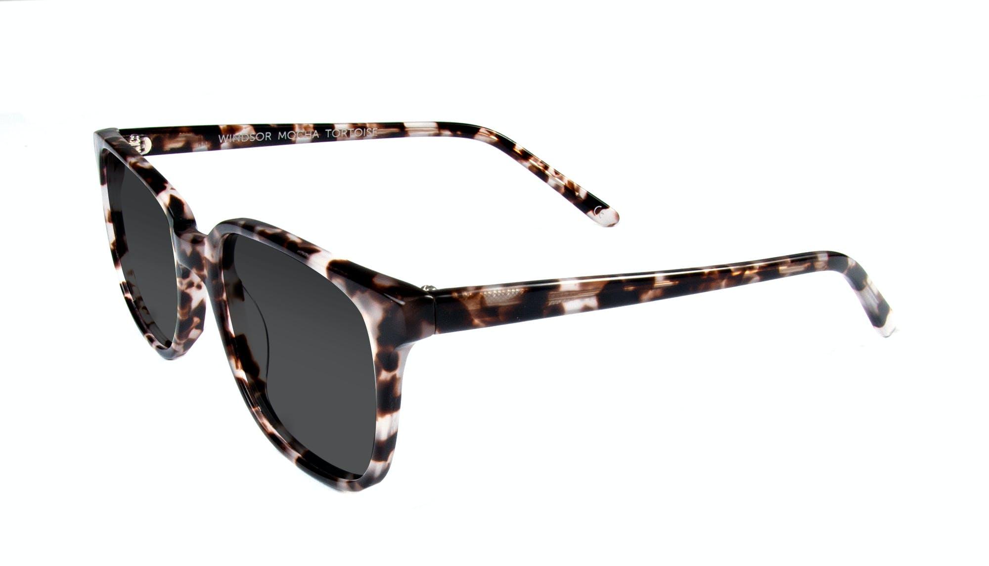 Affordable Fashion Glasses Rectangle Square Sunglasses Women Windsor Mocha Tortoise Tilt