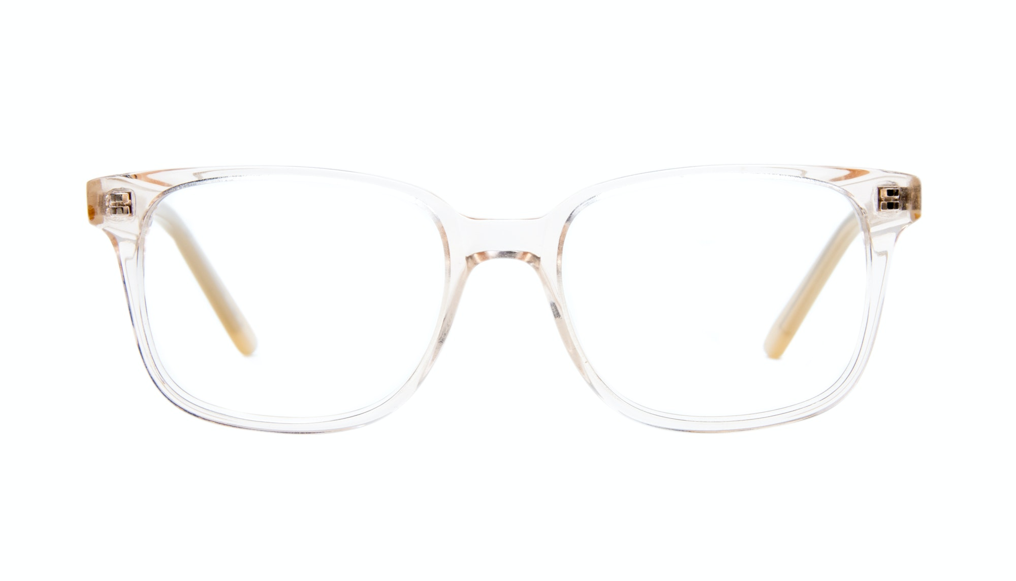 Affordable Fashion Glasses Rectangle Square Eyeglasses Women Windsor Blond Metal Front