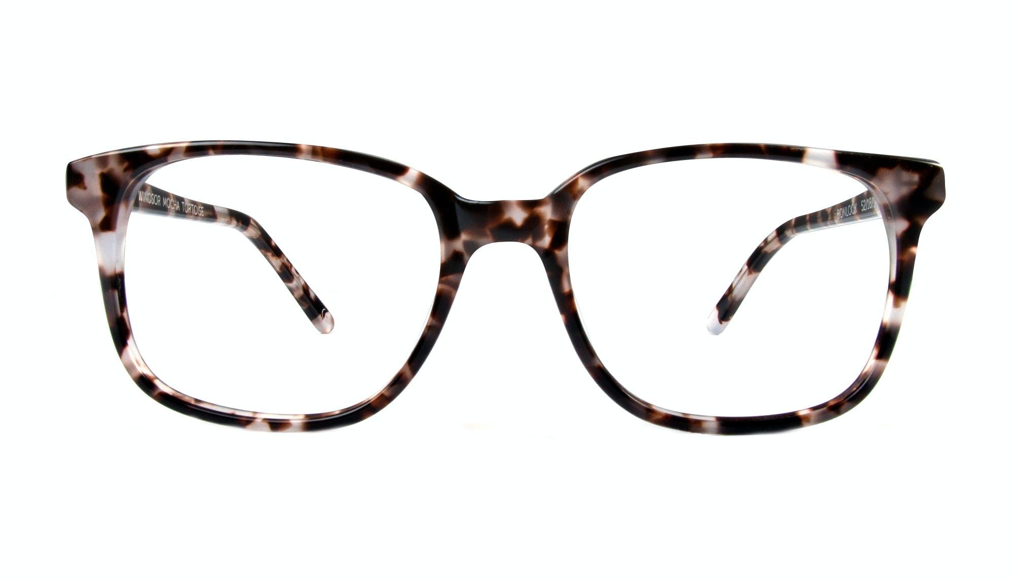 Lunettes tendance Rectangle Carrée Lunettes de vue Femmes Windsor Mocha Tortoise