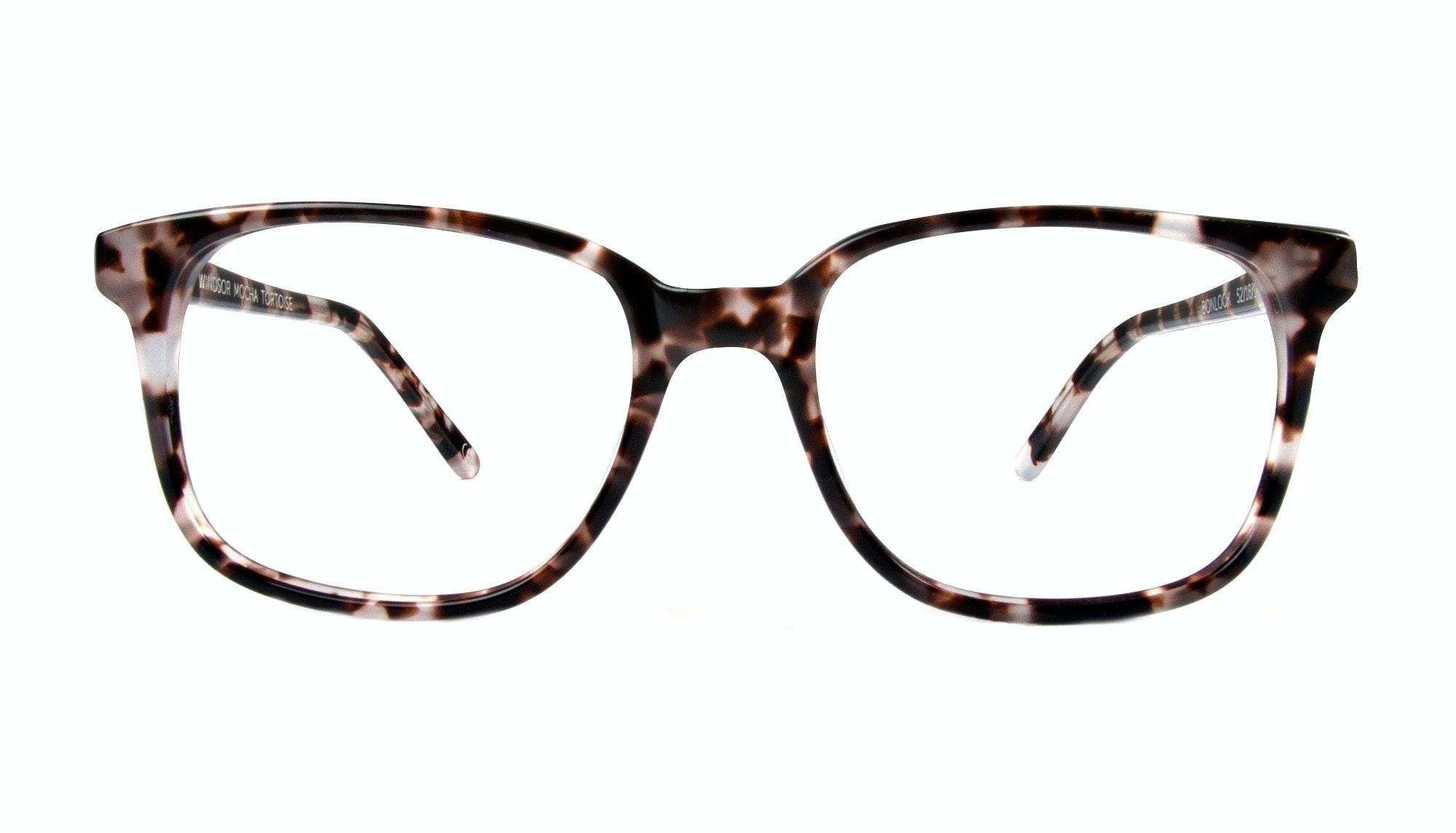 Affordable Fashion Glasses Rectangle Square Eyeglasses Women Windsor Mocha Tortoise Front