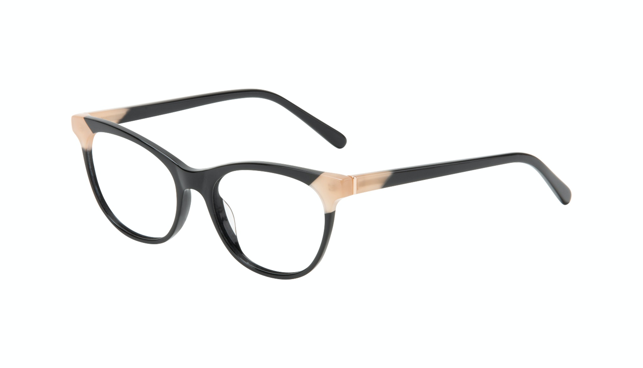 Affordable Fashion Glasses Cat Eye Eyeglasses Women Witty Black Ivory Tilt