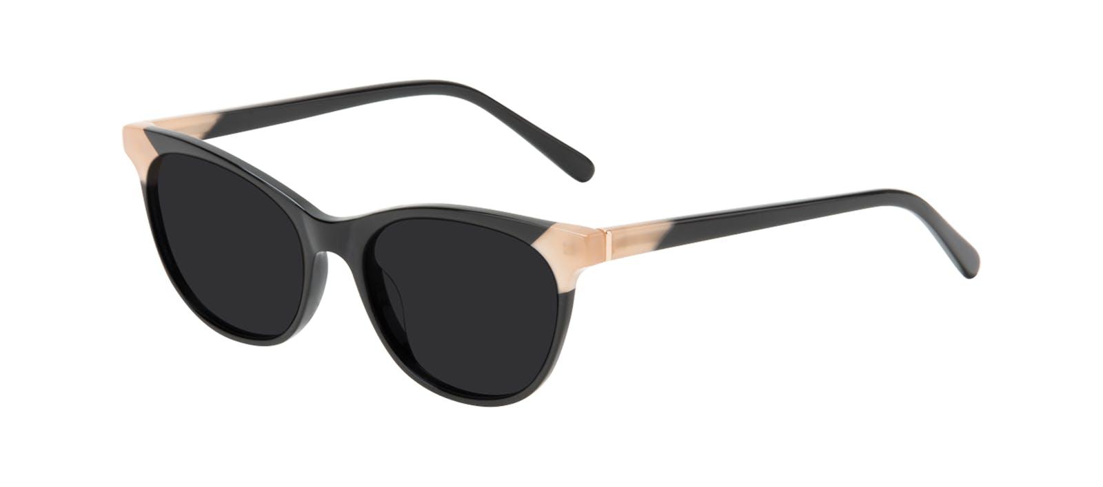 b74b545f2a Affordable Fashion Glasses Cat Eye Sunglasses Women Witty Black Ivory Tilt