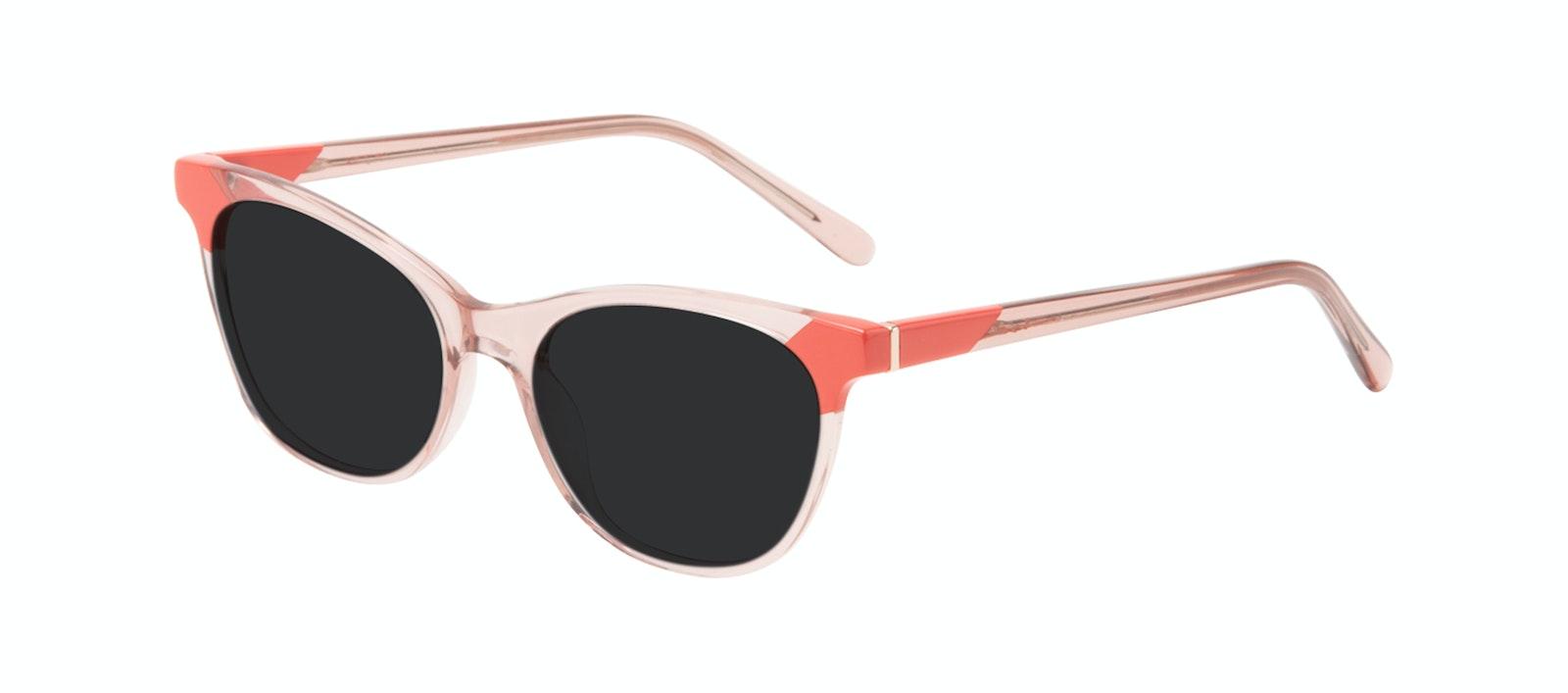 Lunettes tendance Oeil de chat Lunettes de soleil Femmes Witty Pink Coral Incliné