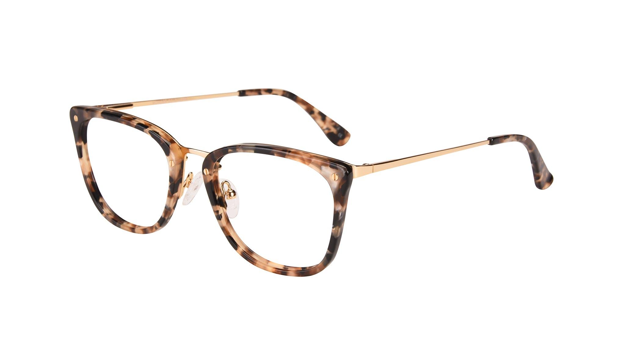 Affordable Fashion Glasses Rectangle Eyeglasses Women Wonder Gold Flake Tilt