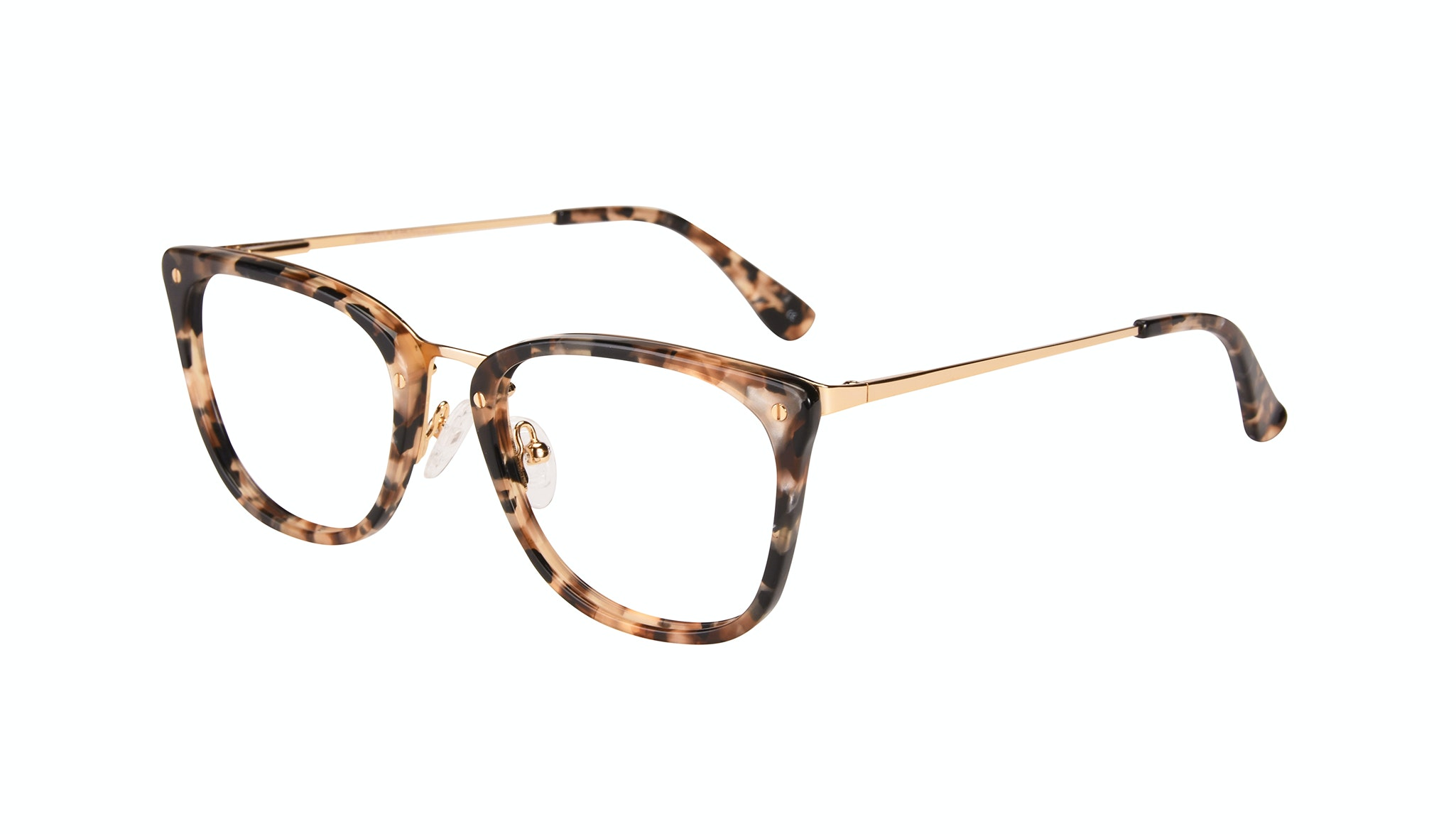 Affordable Fashion Glasses Rectangle Eyeglasses Women Wonder Gold Flake Tilt