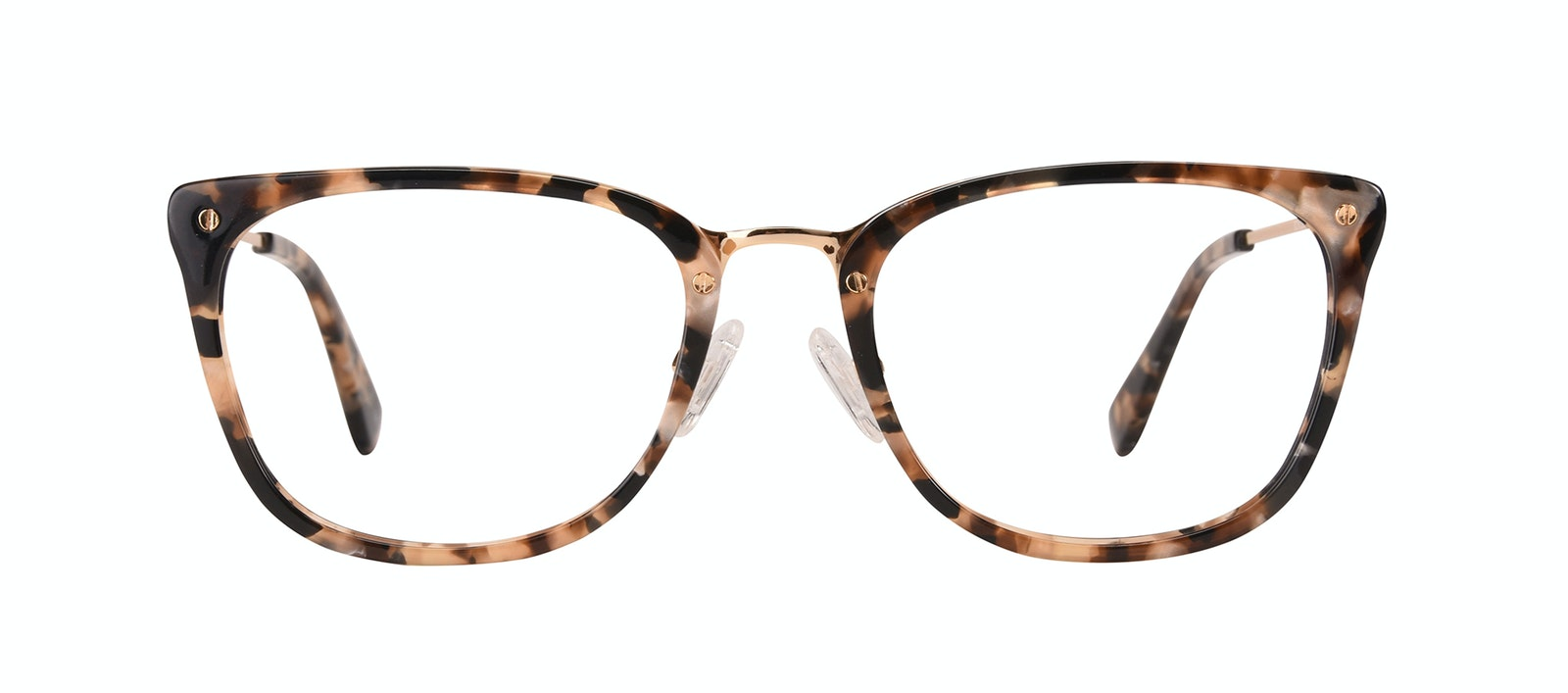 Affordable Fashion Glasses Rectangle Eyeglasses Women Wonder Gold Flake Front