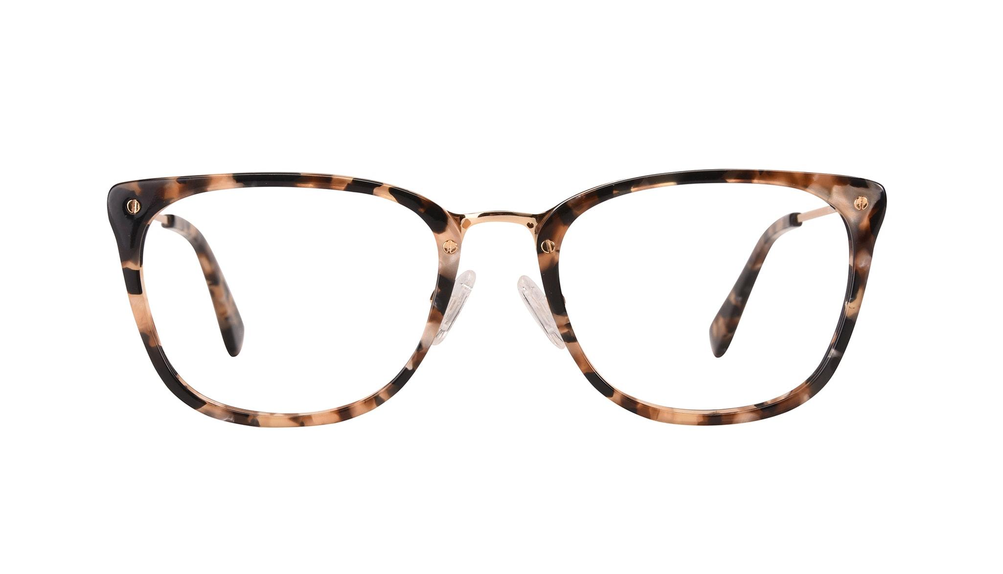 Affordable Fashion Glasses Rectangle Eyeglasses Women Wonder Gold Flake Front