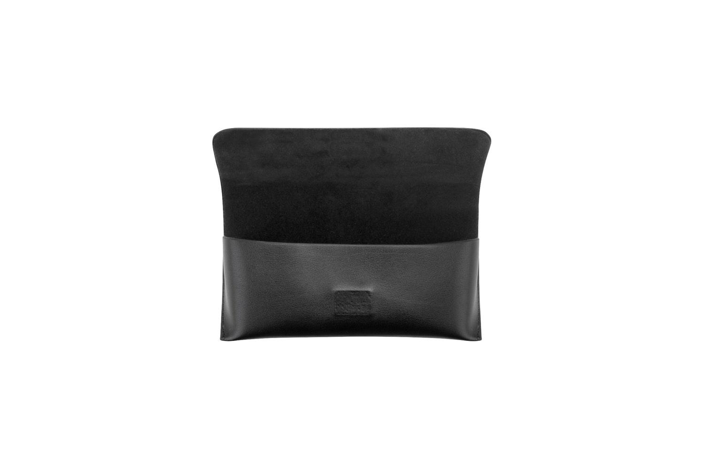 Affordable Fashion Glasses Accessory Men Women XL Vegan Leather Case Black Side