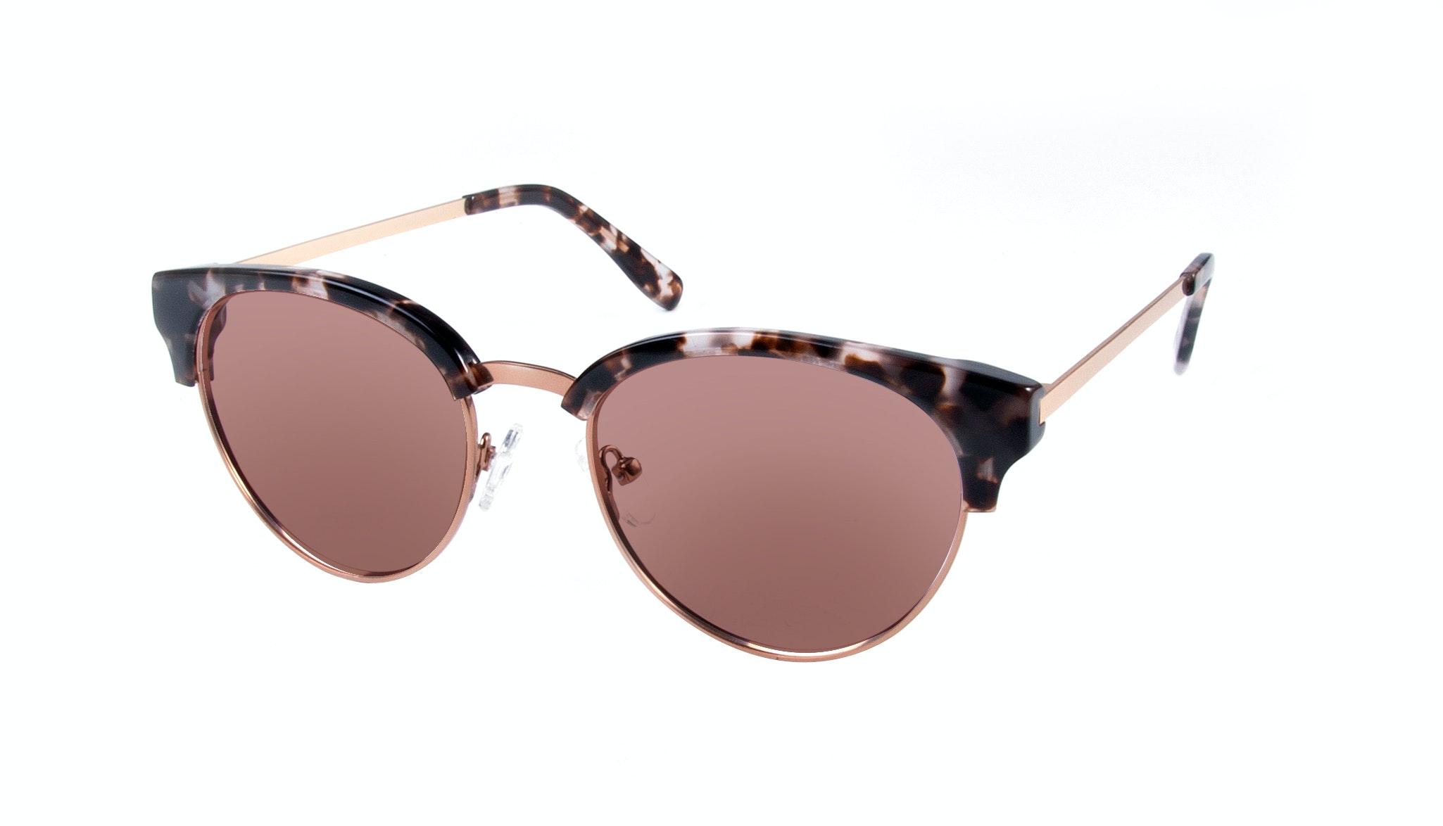 Affordable Fashion Glasses Round Sunglasses Women Allure Mocha Tortoise Tilt