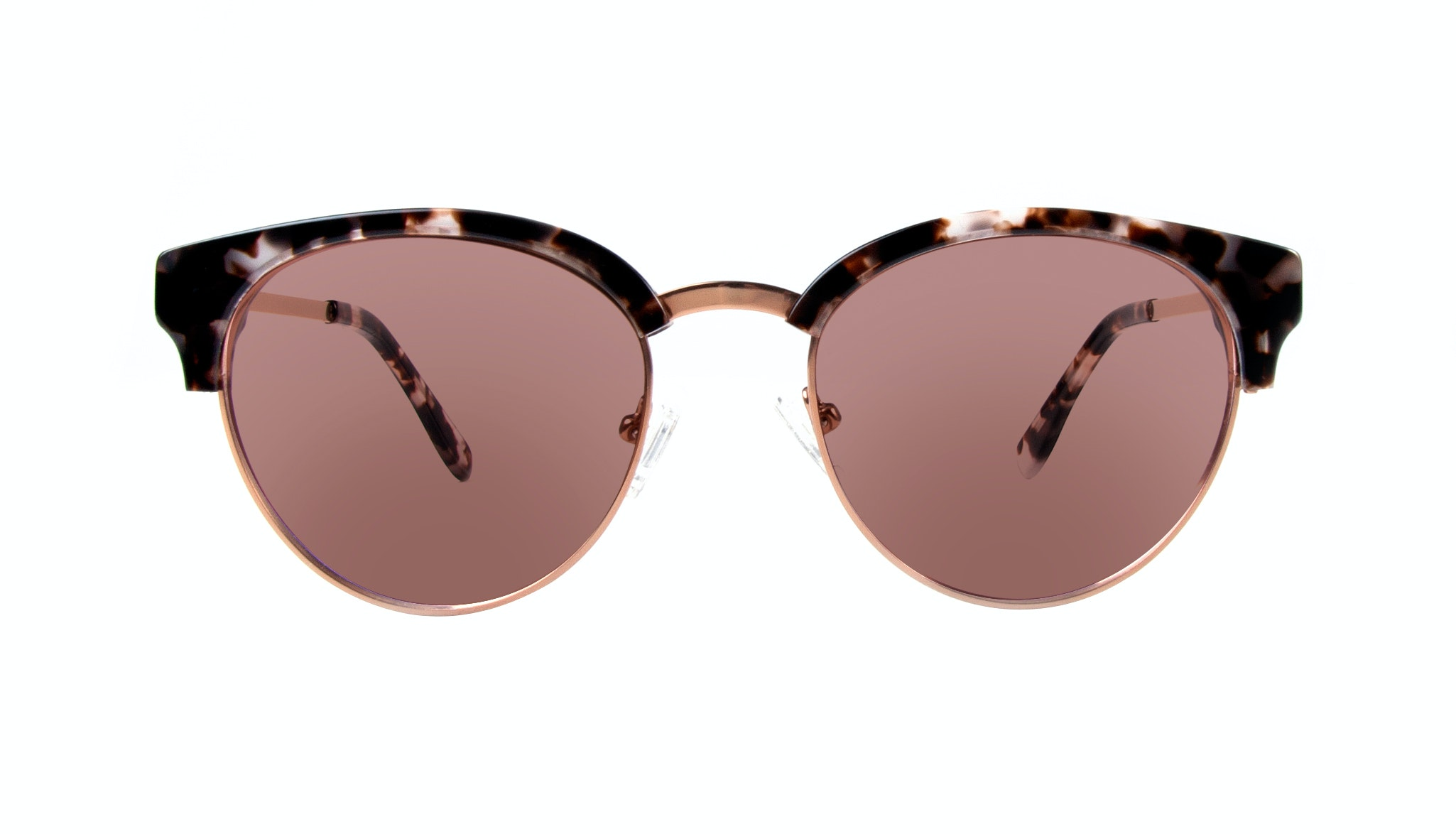 Affordable Fashion Glasses Round Sunglasses Women Allure Mocha Tortoise