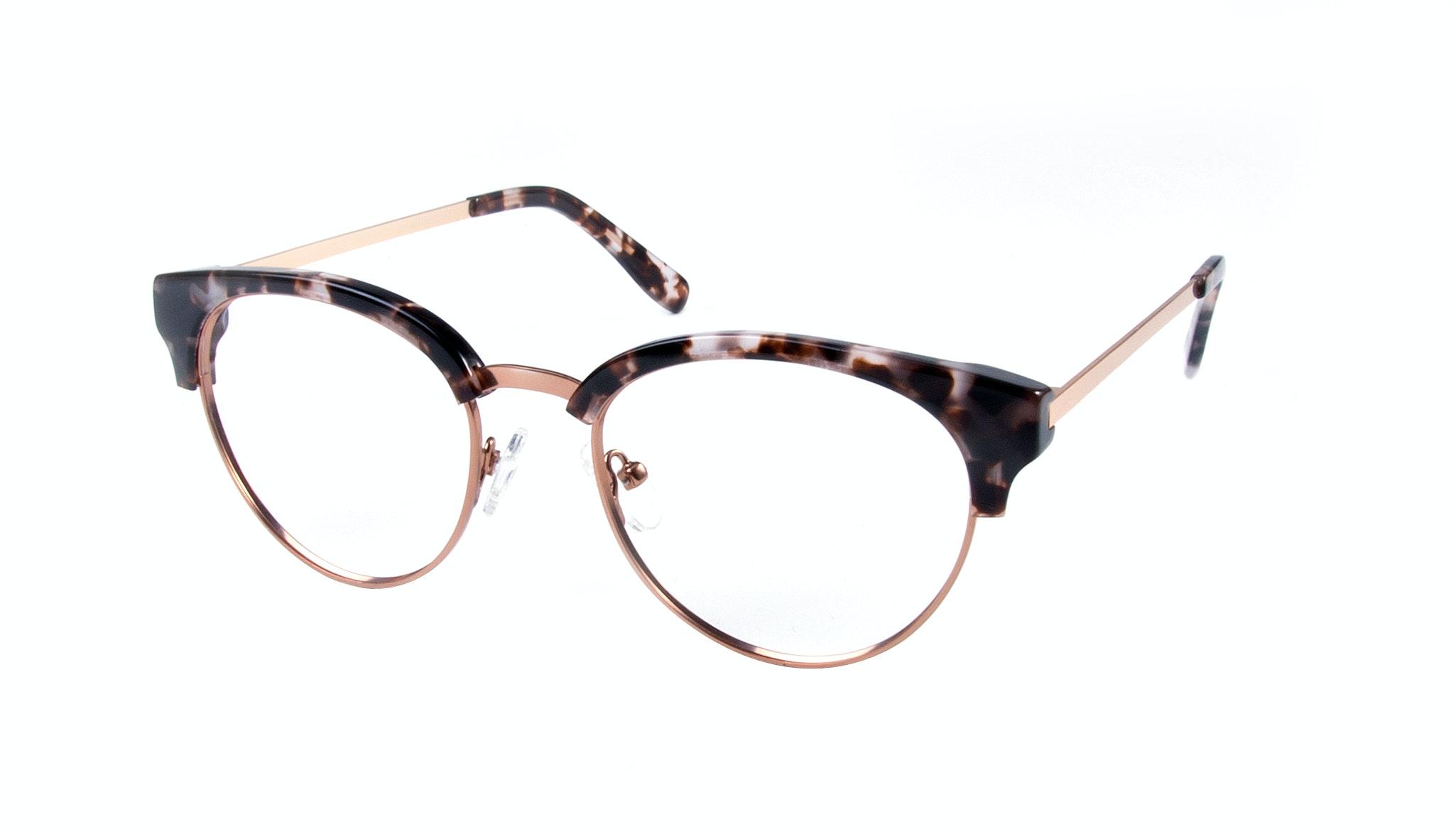 Affordable Fashion Glasses Round Eyeglasses Women Allure Mocha Tortoise Tilt