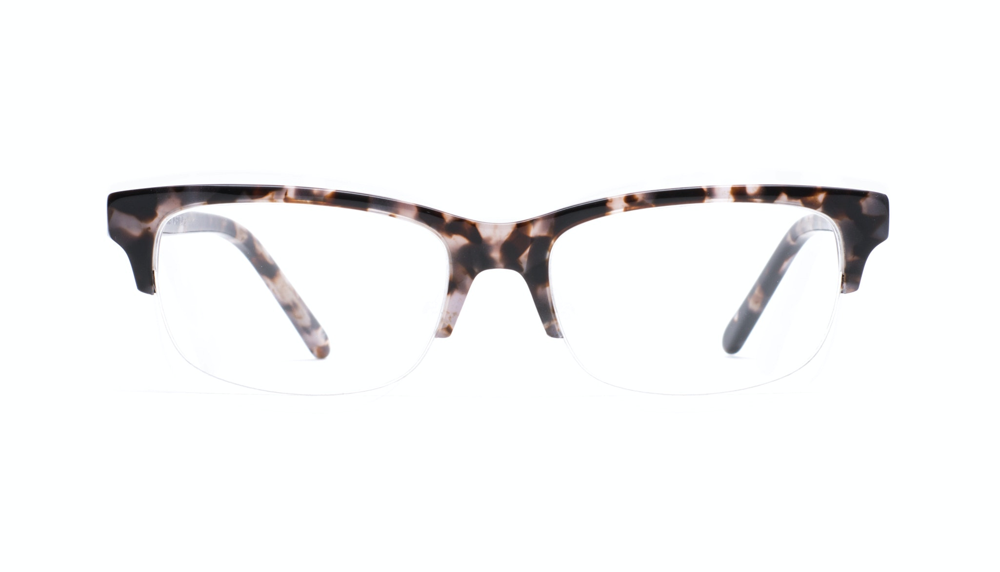 Affordable Fashion Glasses Rectangle Semi-Rimless Eyeglasses Men Atwater Light Mocha Tortoise