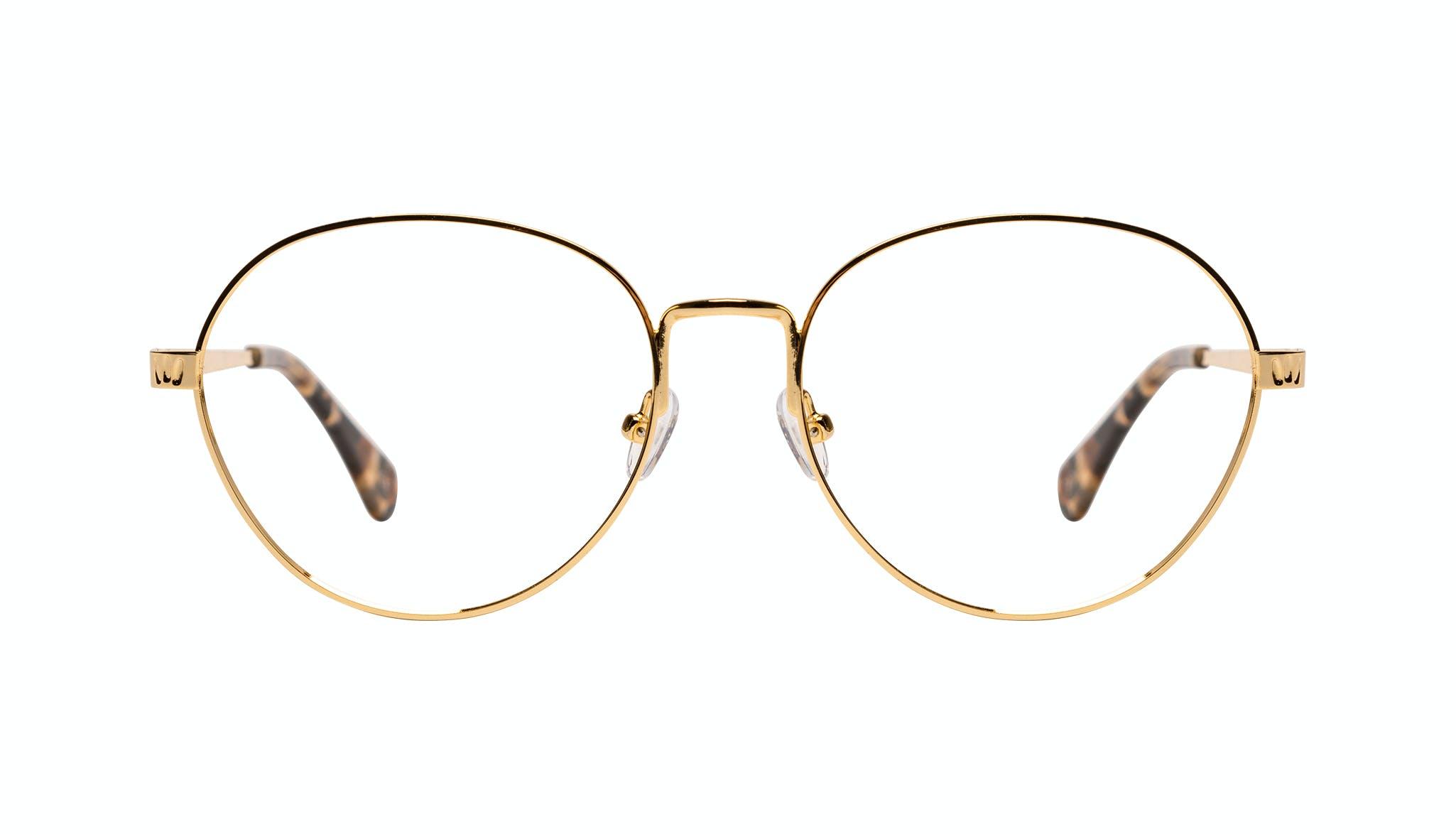 Affordable Fashion Glasses Round Eyeglasses Women Brace Plus Gold Front