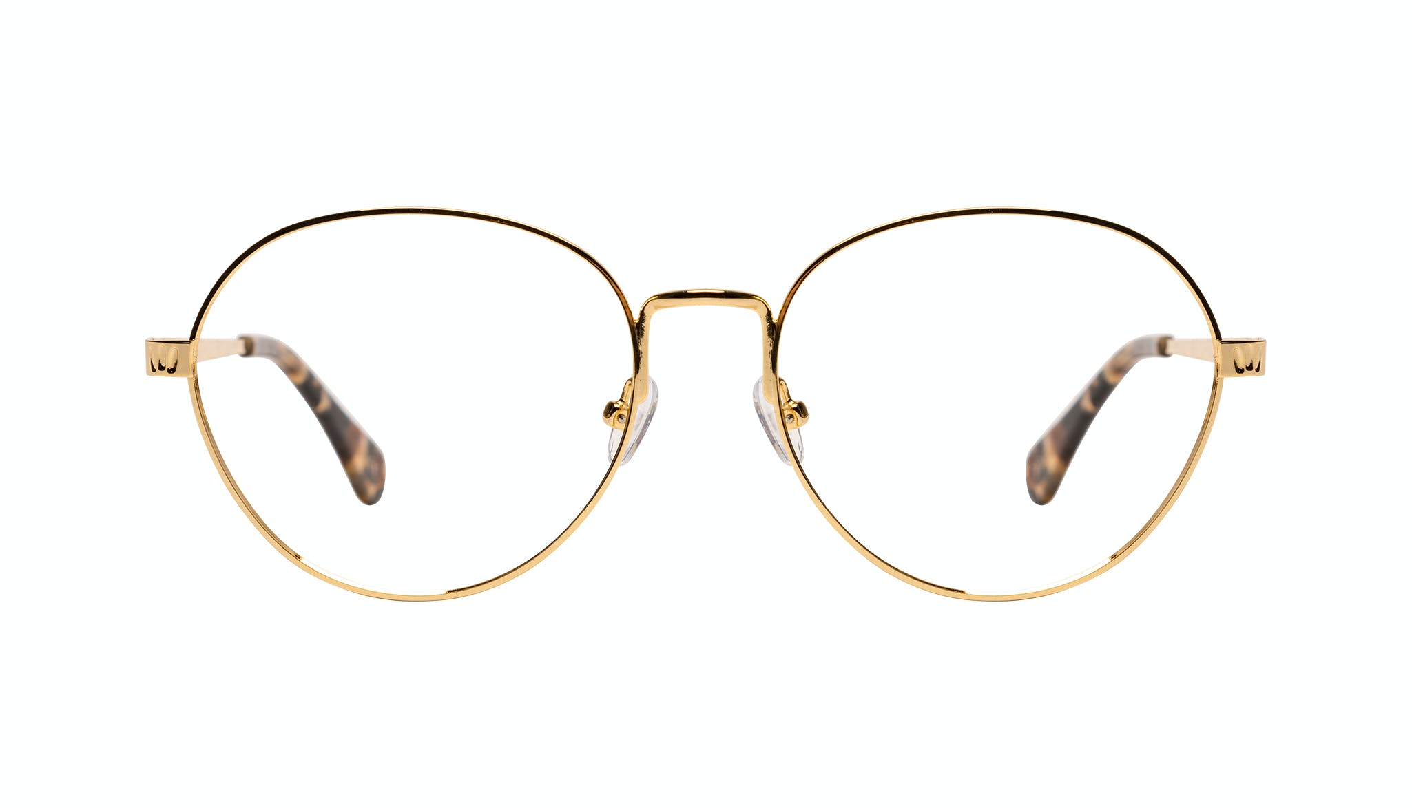 Affordable Fashion Glasses Round Eyeglasses Women Brace Plus Gold