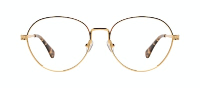 Affordable Fashion Glasses Round Eyeglasses Women Brace Plus Gold Front