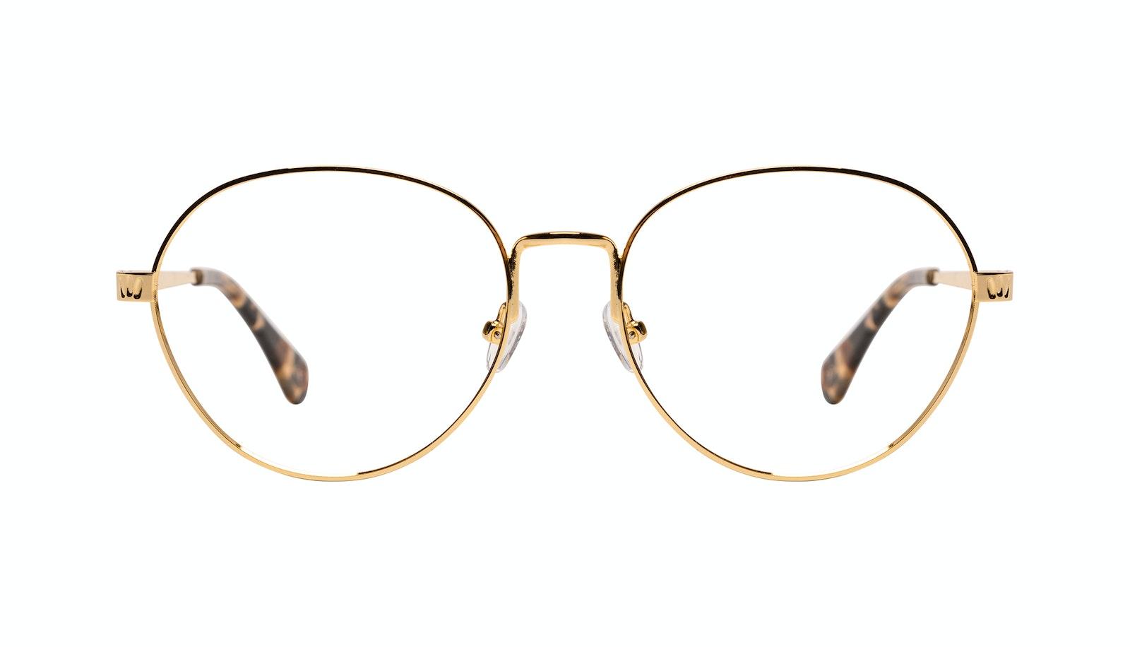 Affordable Fashion Glasses Round Eyeglasses Women Brace Plus Gold