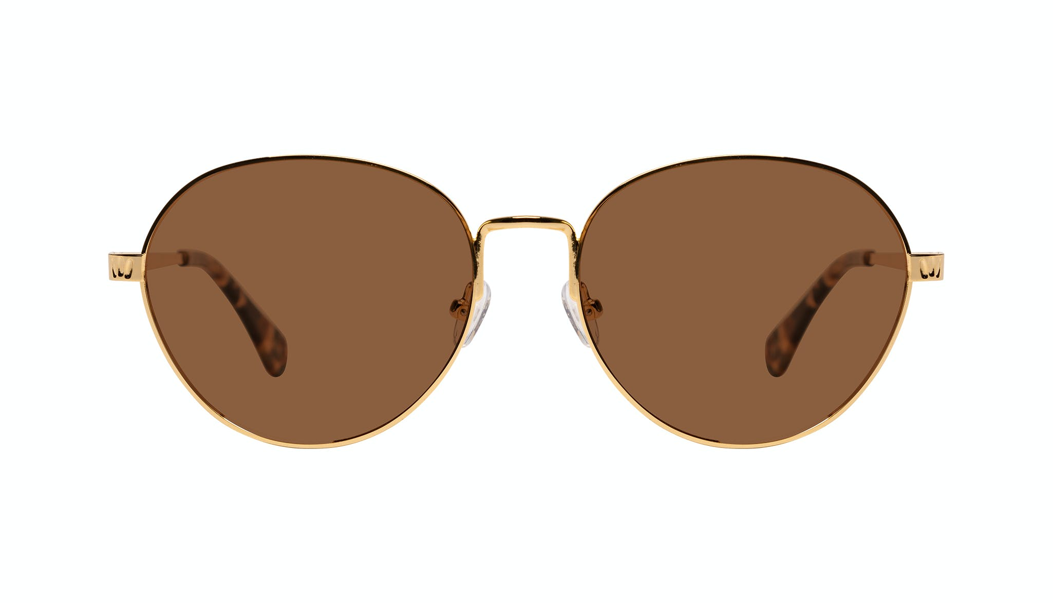 Affordable Fashion Glasses Round Sunglasses Women Brace Plus Gold Front