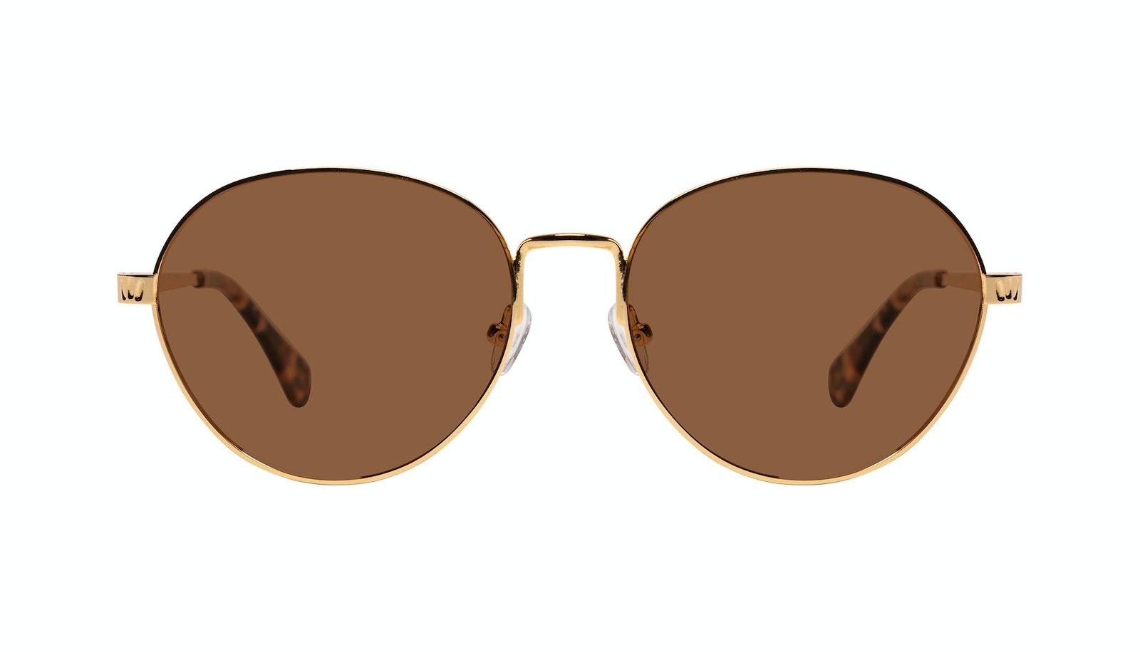 Affordable Fashion Glasses Round Sunglasses Women Brace Plus Gold