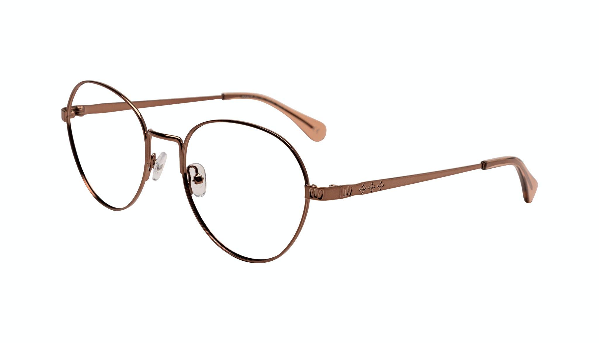 Affordable Fashion Glasses Round Eyeglasses Women Brace Plus Rose Gold Tilt