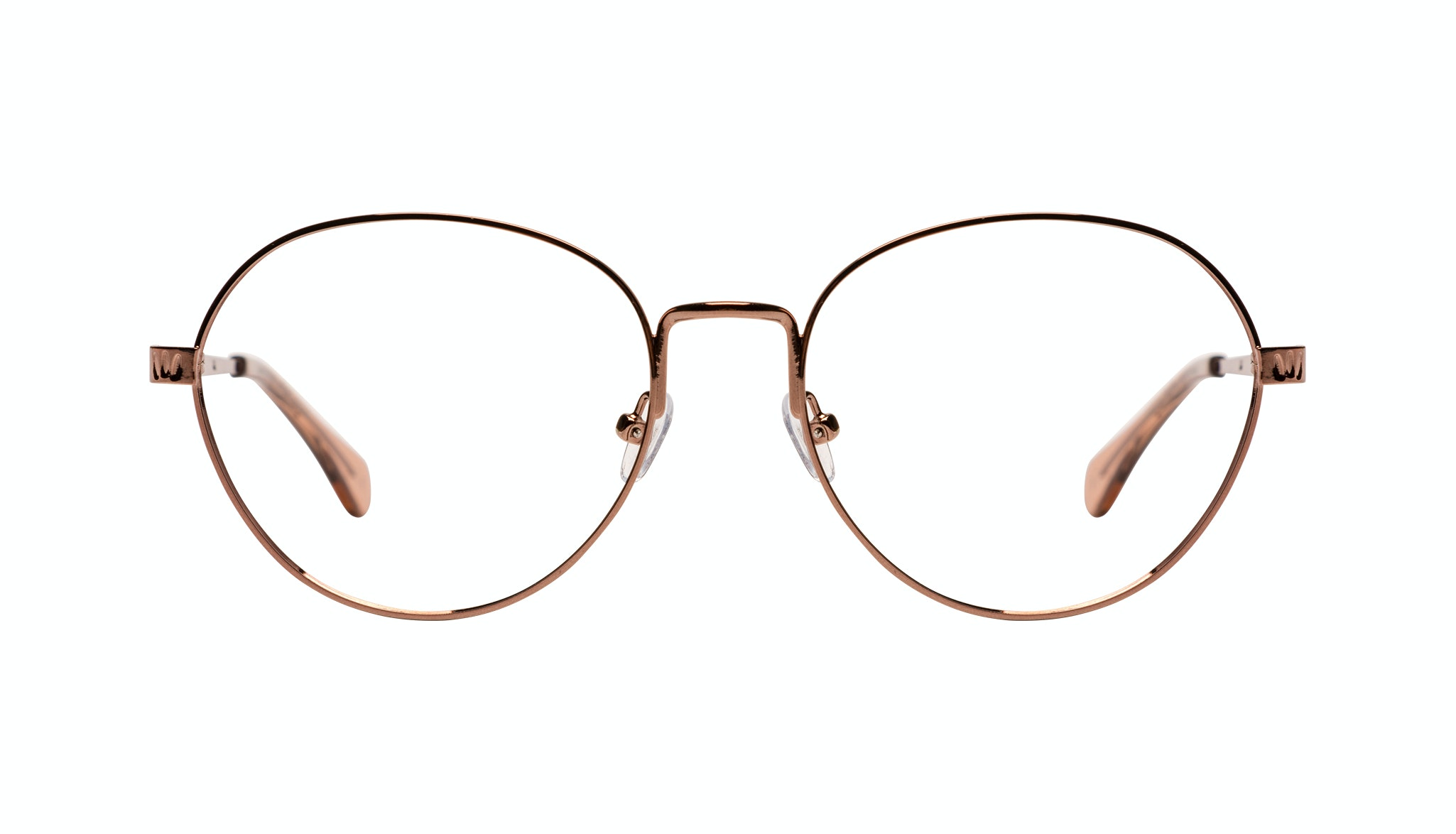 Affordable Fashion Glasses Round Eyeglasses Women Brace Plus Rose Gold Front