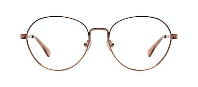 Affordable Fashion Glasses Round Eyeglasses Women Brace Plus Rose Gold Front