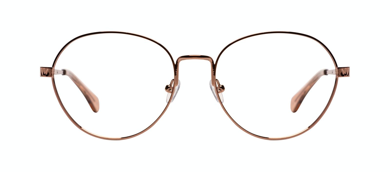 Affordable Fashion Glasses Round Eyeglasses Women Brace M Rose Gold Front
