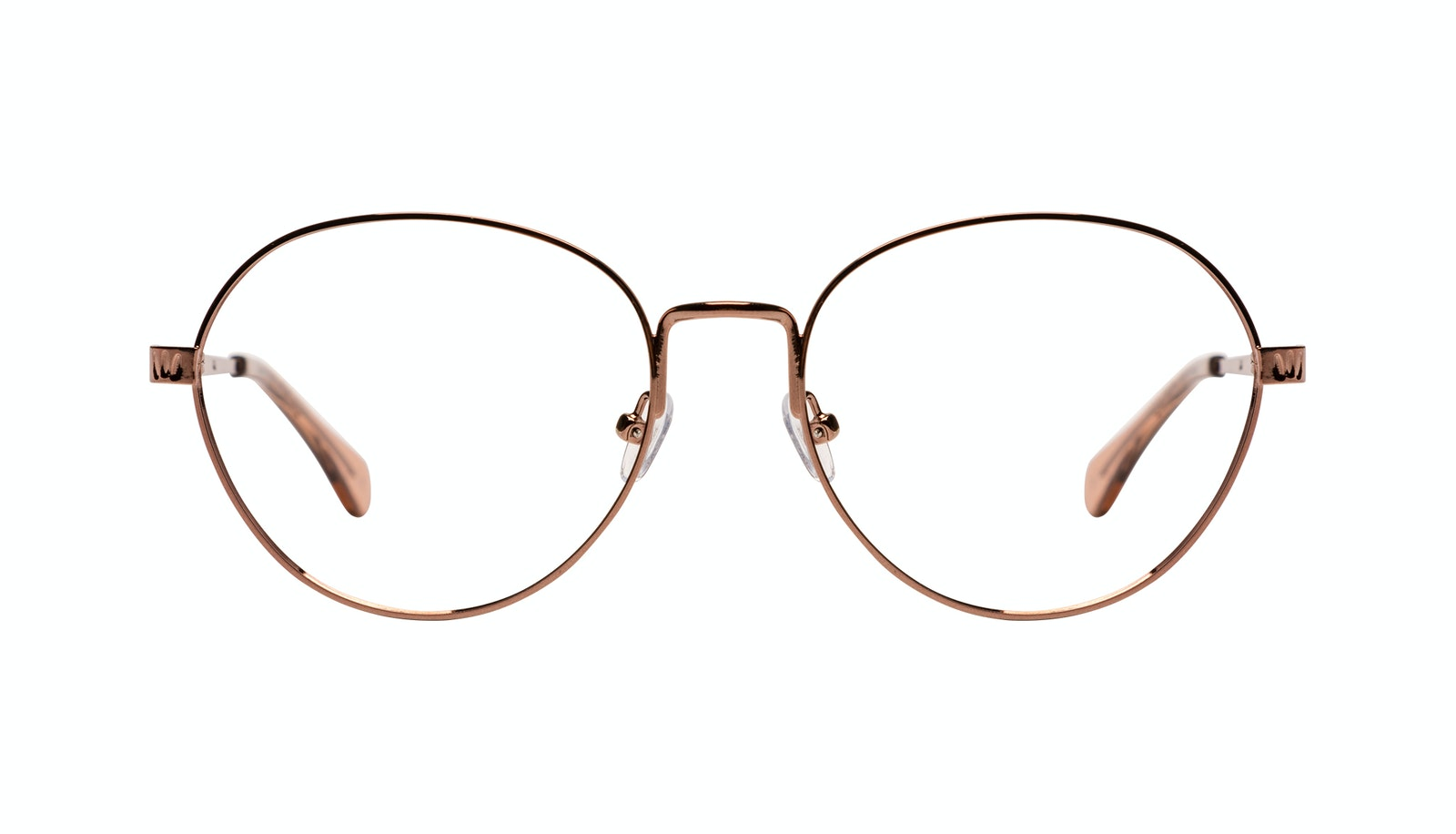 Affordable Fashion Glasses Round Eyeglasses Women Brace Plus Rose Gold